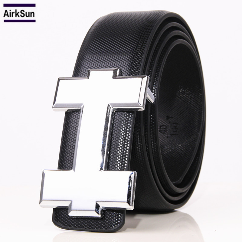 2017 new Fashion designer Belts Men High Genuine Leather Belt h buckle Cinto Men Belt Luxury Bussiness Casual waistband