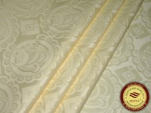 10Yards Bazin Riche Fabric Brilliant Cream Color Best Quality Guinea Brocade 100% Cotton Fabric For Garment With Perfume(China)