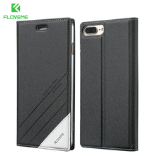 FLOVEME Luxury For iPhone 7 Case 5 6 6S Plus Flip Leather Phone Cases For Apple iPhone 5 5S SE 6 6S iPhone 7 Wallet Holster Case(China)