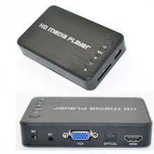 Mini Autoplay SD/U Disk Media Player Full HD 1080p USB External Media Player With HDMI VGA Output EU Plug