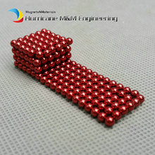 216 pcs NdFeB Magnet Balls 3mm Diameter Red Color Strong Neodymium Sphere D3 ball Permanent Rare Earth Magnets in Gift Box