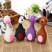 Cute Pet Dog Chew Toys Rubber Durability Vocalization Dolls Bite Toys for Dog Accessories pet dog products High Quality 20S4