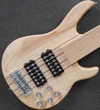 6 string fretless Active Electronics bass guitar neck through body bass guitar