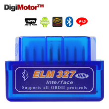 ELM327 Bluetooth Auto Diagnostic Tool V1.5 ELM 327 Diagnostic-Tool OBD2 Car Code Scanner OBD 2 OBDII Scaner Automotivo V 1.5