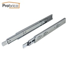 "Probrico 10 Pair 16"" Soft Close Ball Bearing Drawer Rail Heavy Duty Rear/Side Mount Kitchen Furniture Drawer Slide DSHH32-16A"
