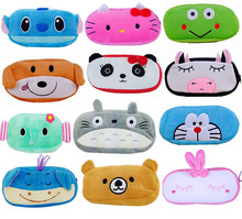 1 PCS Cute Cartoon Plush Pencil Case Kawaii Large Size School Kids Pencil Box Animals Stationery Fashion Makeup Bag for Women