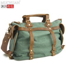 Muchuan Canvas With The Horse Package Shoulder Handbag Men And Women Section Satchel Will Capacity Leisure Time Trendsetter Bag