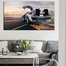 New Back To The Future Car Vintage Retro Large Film Movie Art Prints Poster Wall Picture Canvas Painting No Framed Home Decor