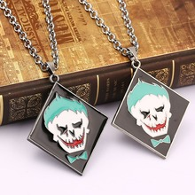 10PCS/LOT Suicide Squad necklace new design anti-hero image charm necklace Movie Series TASKFORCE stainless chain For Gift