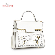Red Lover Lady handbag business bag PU leather Butterfly Women's bag Tote Office Lady bags OL buckle Korea style bag