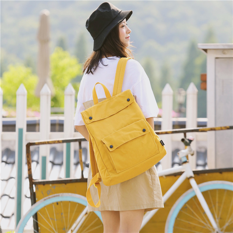 Menghuo Brand Female Women Canvas Backpack Preppy Style School Lady Girl Student School Laptop Bag Cotton Fabric bolsasHYYV6221