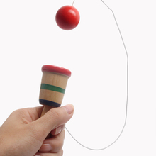 Traditional Wooden Cup Toy Ball Game Juggling Ball Gift Educational Learning Toys for Children Kids Baby