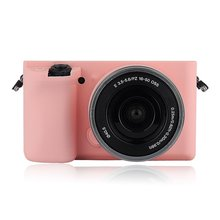 Multicolor Soft Silicone Skin Case Bag Camera Cover Protector For Sony A6000 PINK