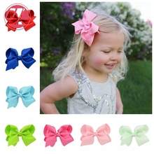 10cm Polyester Solid  Bows 40Pcs/lot  With Hair Clips Kids  Boutique Headwear Kids Hair Accessories  DIY Decor 612