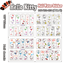 Nail Art (Large Piece BOP236-239 4 DESIGNS IN 1)Hello Kitty Nail Art Wrap Water Sticker for Nail Art Accessories