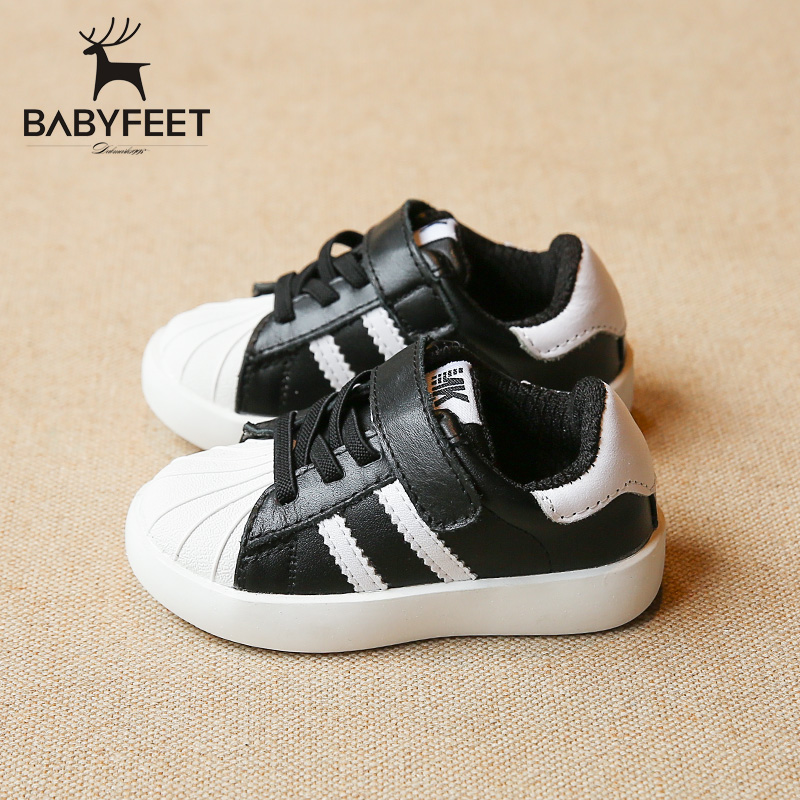 babyfeet Children shoes low top Comfortable waterproof Genuine Leather kids sneakers girls boys tenis infantil flat sport shoes<br>