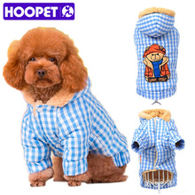 HOOPET Winter Warm Teddy Dog Cat Hoodie Fleece Lined Coat Puppy Kitten Christmas Sweater Kitty Clothes Apparel Pet Costume