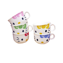 Cartoon Hello Kitty Mug Cute Bone Ceramic Drink Milk Coffe Juice Water Cup girls Creative Novelty Cup Girls Gift Wholesale(China)