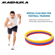 MACHUKA 9Pcs/Set Soccer Speed Agility Rings ABS Material Sensitive Football Training Equipment Pace Lap Football Ball Training(China)
