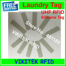 UHF RFID laundry tag 915MHZ 860-960MHZ Alien Higgs3 chip Silicone material 58x13x2mm 10 pcs can be washed and Ironing