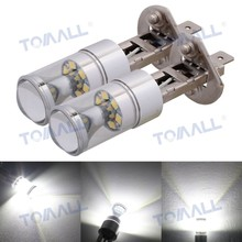 FINAL SALE 2pcs H1 Car LED 360 Degree Fog Lights White 12V