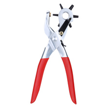 Hole Punching Machine 9'' Punch Plier Round Hole Perforator Tool Make Hole Puncher for Watchband Cards Leather Belt(China)