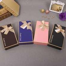 1Pcs rectangle shape Paper Event Supplies Candy Packaging Chocolate Boxes 18 holes chocolate paper box chocolate gift candy box