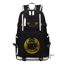 2018 New Touken Ranbu Online Gold Printing Backpack Canvas Travel Bags Anime School Bags Military Backpack Laptop Backpack(China)