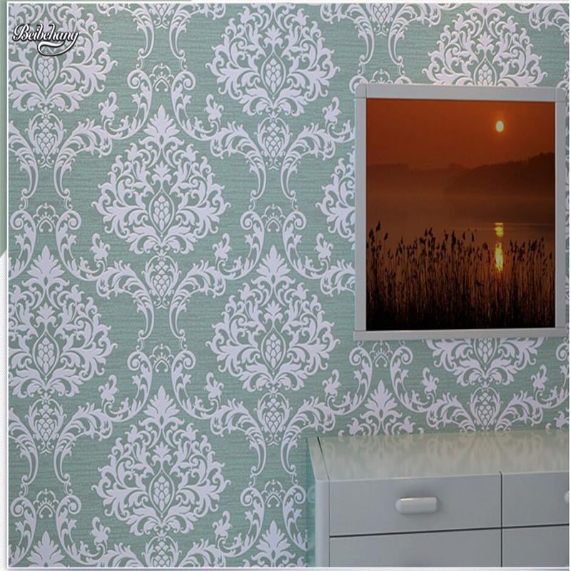 beibehang European Wallpapers Nonwovens Thick Stereo 3D Damascus Wallpaper Bedroom Living Room TV Walls<br>
