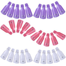 Best Selling 10pcs/set Reusable UV Gel Nail Polish Remover Wraps Cleaner Nails Art Soak Off Cap Clip Nail Beauty Remover Tools