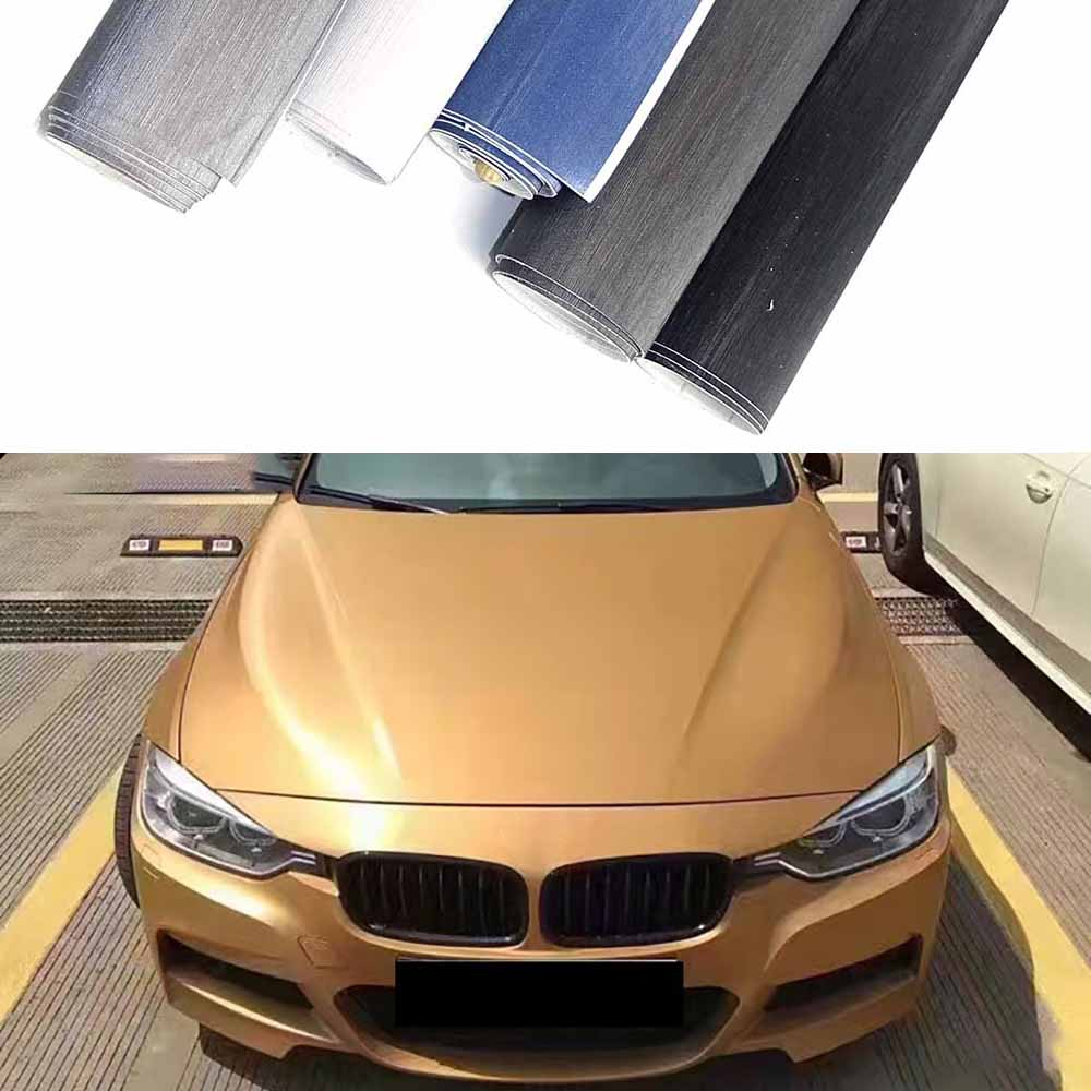 Car Styling Aluminum Brushed Vinyl Film Car Wrap Automobiles Motorcycle Scooter Computer Phone Decals Stickers Film Accessories<br>