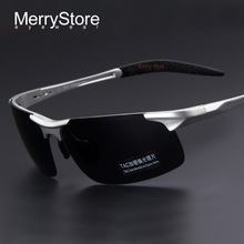 MERRYSTORE Men Brand Aluminum Alloy Polarized Sunglasses Alloy Ultralight Frame Man Polarization Glasses Sunglasses