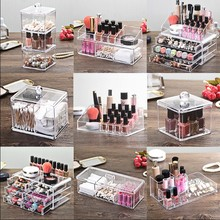fashion Cosmetic Makeup Nail Polish Varnish Display Stand Rack Holder Booking Jewelry Acrylic Packaging Organizer Storage Box
