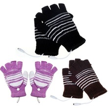 VODOOL 1 Pair 5V USB Powered Heating Heated Winter Hand Warmer Gloves Washable Plug and Play Car Styling Accessories(China)