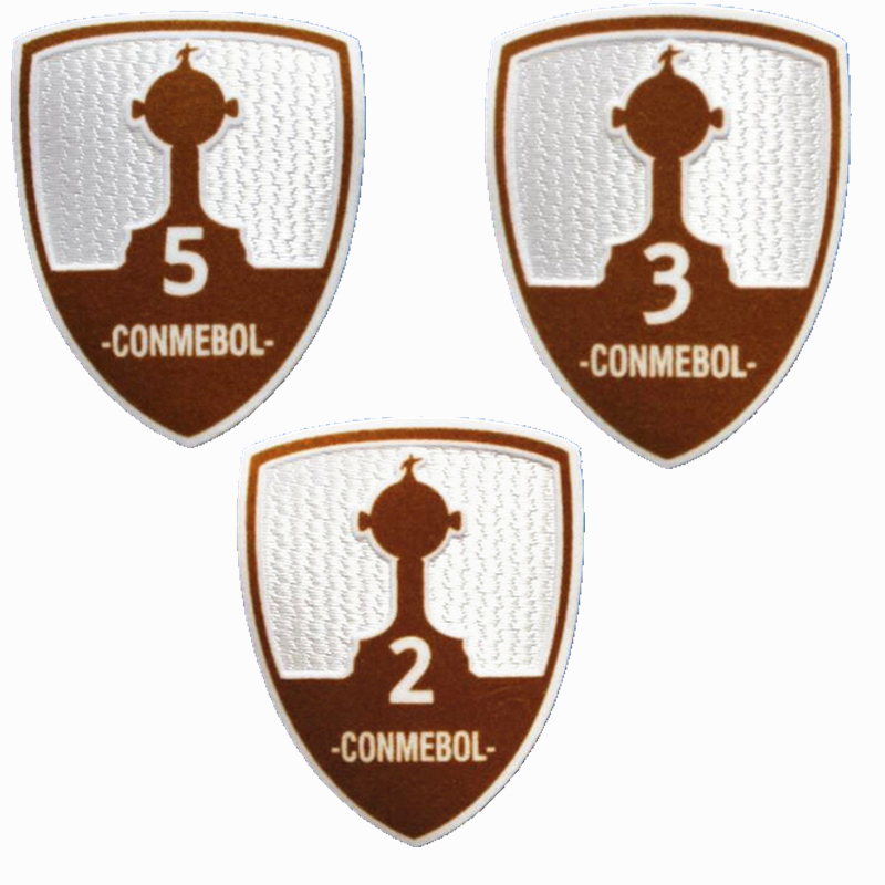 New CONMEBOL 1 2 3 4 5 6 7 time patch football Print patches badges,Soccer Hot stamping Patch Badges(China (Mainland))