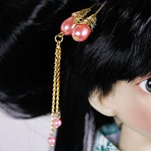 [wamami] 699# OOAK Classical Ancient Pink Hairpin For 1/3 1/4 SD AOD DOD DZ BJD Dollfie(China)