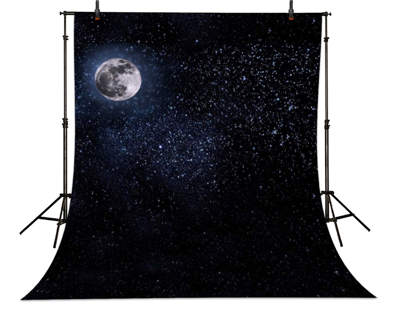 Star Universe Moon Stars photo backdrop High-grade Vinyl cloth Computer printed christmas Photography Backgrounds<br><br>Aliexpress
