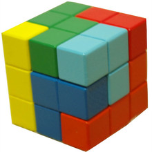 Square wooden soma multicolour assembling building blocks toy cube magic cube IQ kids brinquedos