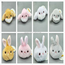 8pcs/lot Three British Series Dumpling Dumpling Snow Bunny Rabbit Rabbit Plush Toy Doll Cherry Sandbags Small Sandbag NEW