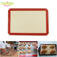 Delidge 1pc Large Size 42*29.6cm Non-Stick Silicone Baking Mat For Cake Cookie Baking Liner Cooking Kitchen Accessories(China)