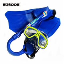 Children Kids Diving Swimming Set 3PCS Goggles Mask+Dry Snorkel+Flippers Safety Swimming Snorkels For Water Sports