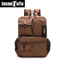 Multi-pocket canvas backpack Khaki/Navy blue/Black/ Army Green Original Captain backpack Brand design laptop backpack FB1199