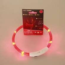 Rechargeable USB LED Flashing Light Band Belt Safety Pet Dog Collars Halter Harnesses for dogs