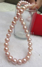 8-9mm AAA South Sea Pink Cultured Pearl Shell Necklace Rope Chain Beads Jewelry Making Natural Stone 18inch (Minimum Order1)