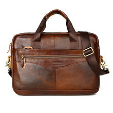 Bussiness Men Briefcases Genuine Leather Men Handbags Crossbody Bags Casual Totes Male Messenger Laptop Bag Man Shoulder Bags(China)