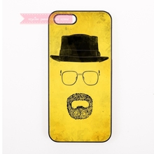 fashion Hat Mustache glasses design graphic Hard Back Cover Phone Case For iphone 4 4s 5 5s 5c se 6 6S plus 7 7 Plus case cool(China)