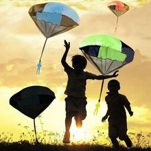 SUN & CLOUD Hand Throwing Kids Play Parachute Toy Soldier Outdoor Sports Educational Toy