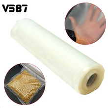 20CMx500CM Vacuum Heat Sealer Food Fresh Saver Bag Rolls Food Storage Bags Saran Wrapper Flim Kitchen Packaging Tool