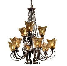 9 lights Black Retro Chandelier with tiffany glass lampshade Antique Lamps coffee shop E27 led Home Lighting Lustres E Pendentes(China)
