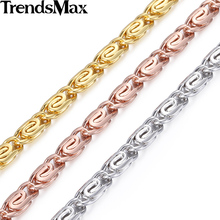 Trendsmax 4.5mm Womens Girls Chain Necklace Snail Rose Gold Filled Necklace wholesale fashion jewelry Gift Hot Sale GN216